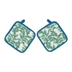 SILVERPOPPEL - Pot holder, patterned/green blue