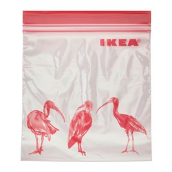 ISTAD - Resealable bag, patterned/pink