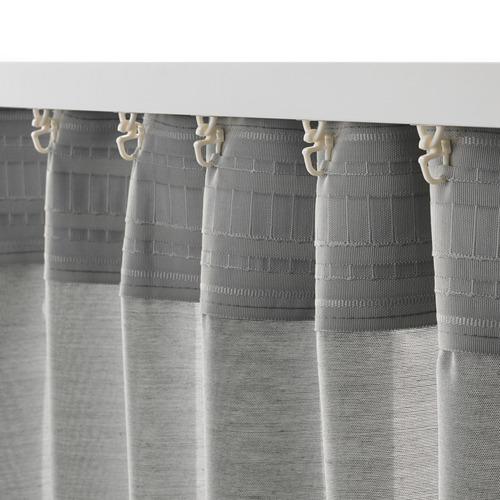 HILJA - curtains, 1 pair, grey, 145x250 cm | IKEA Indonesia - PE671129_S4