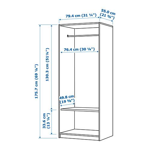 KLEPPSTAD wardrobe with 2 doors