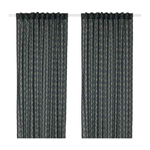 NOVEMBERLJUS curtains, 1 pair