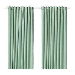 SANELA - Tirai penggelap ruangan, 1 pasang, hijau muda