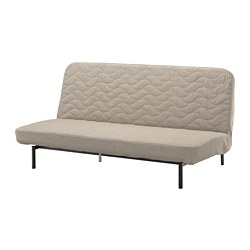 NYHAMN - 3-seat sofa-bed, with pocket spring mattress/Hyllie beige