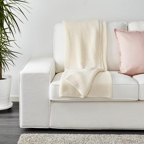INGABRITTA - throw, off-white, 130x170 cm | IKEA Indonesia - PE631989_S4