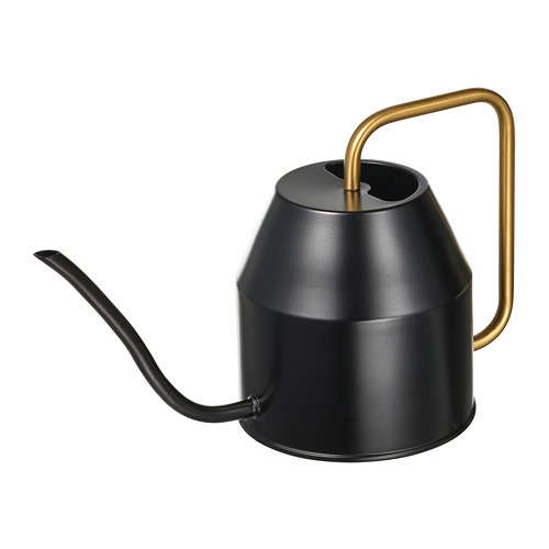 VATTENKRASSE - penyiram tanaman, hitam/warna emas, 0.9 l | IKEA Indonesia - PE821006_S4