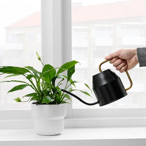 VATTENKRASSE - penyiram tanaman, hitam/warna emas, 0.9 l | IKEA Indonesia - PE821007_S4