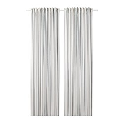 ÄDELSPINNARE - Curtains, 1 pair, white/striped