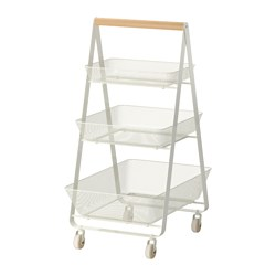 RISATORP - Trolley, white