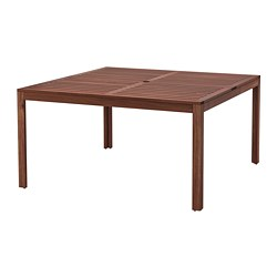 ÄPPLARÖ - Table, outdoor, brown stained
