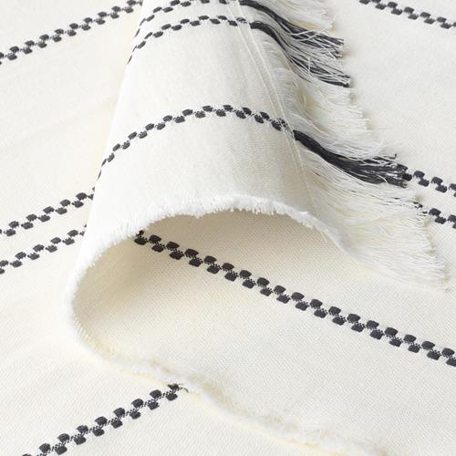 STINAMAJ - throw, white/dark grey, 130x170 cm | IKEA Indonesia - PE714710_S4