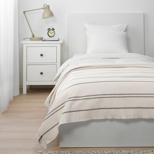 STINAMAJ - throw, white/dark grey, 130x170 cm | IKEA Indonesia - PE714712_S4