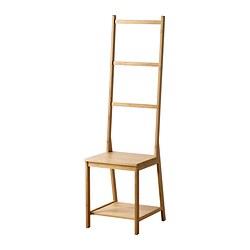 RÅGRUND - Towel rack chair, bamboo