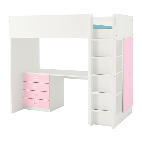 FRITIDS/STUVA loft bed combo w 4 drawers/2 doors