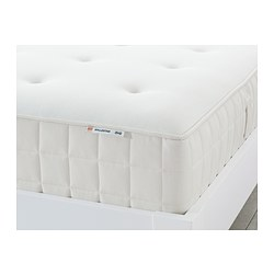 HYLLESTAD - Pocket sprung mattress, medium firm/white, 90x200 cm