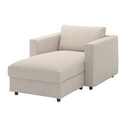 VIMLE - Chaise longue, Gunnared krem