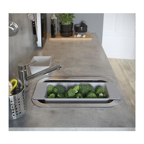 BOHOLMEN inset sink, 1 bowl