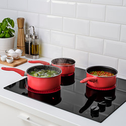 KAVALKAD - Saucepan, set of 3, red