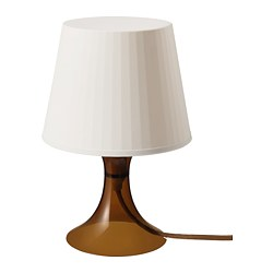 LAMPAN - Table lamp, brown