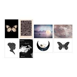 VÄXBO - VÄXBO, kartu seni, Black butterfly, 13x18 cm