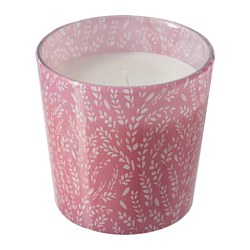 MEDKÄMPE - Scented candle in glass, Summer fields/pink