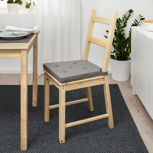 JUSTINA - alas kursi, abu-abu, 42/35x40x4 cm | IKEA Indonesia - PE658492_S4