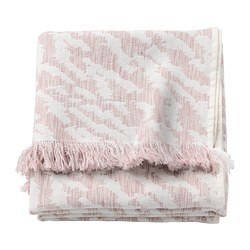 KAPASTER - Throw, white/pink