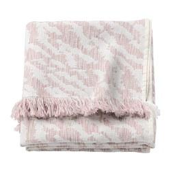 KAPASTER - Selimut kecil, putih/merah muda