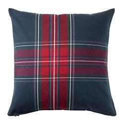 JUNHILD - Sarung bantal kursi, biru/merah