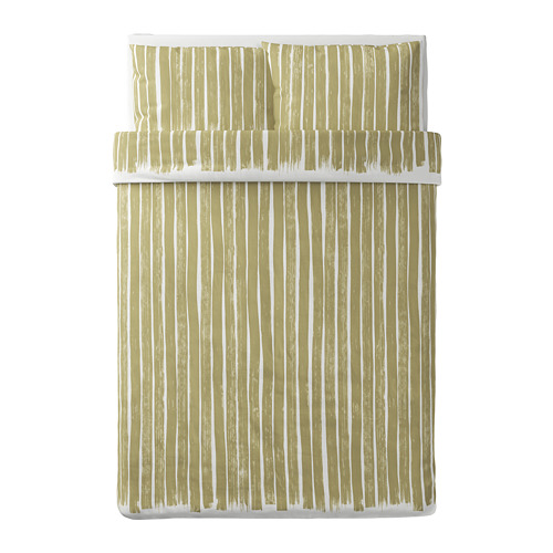 KRANSRAMS sarung quilt dan 2 sarung bantal