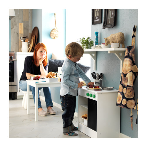 NYBAKAD - play kitchen with sliding door, white, 49x30x50 cm | IKEA Indonesia - PE560311_S4