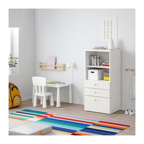 FRITIDS/STUVA bookcase with drawers