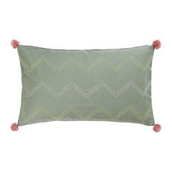 MOAKAJSA - Sarung bantal kursi, buatan tangan hijau/merah muda