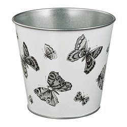 STJÄRNFRUKT - Plant pot, in/outdoor white/black