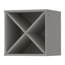 TORNVIKEN - Wine shelf, grey