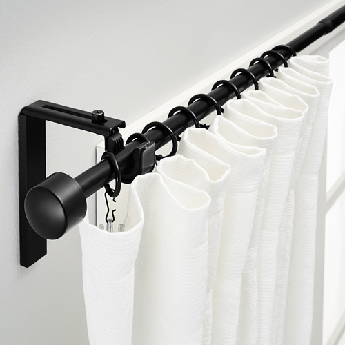 RÄCKA - kombinasi batang gorden, hitam, 120-210 cm   IKEA Indonesia - PE361955_S4