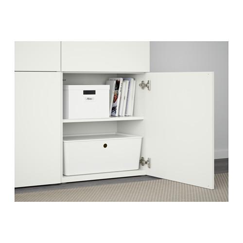 BESTÅ - kombinasi penyimpanan dengan pintu, putih/Lappviken putih, 120x42x193 cm | IKEA Indonesia - PE561008_S4