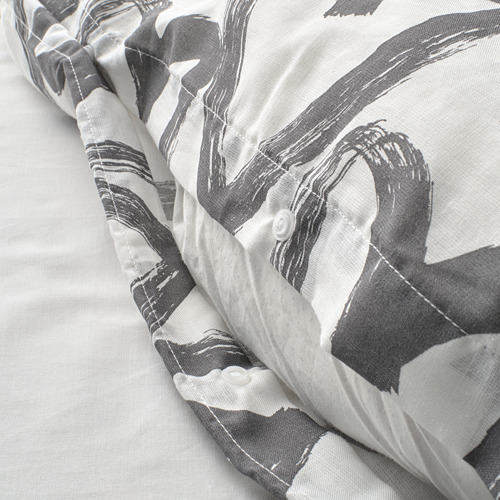 LYKTFIBBLA sarung quilt dan sarung bantal