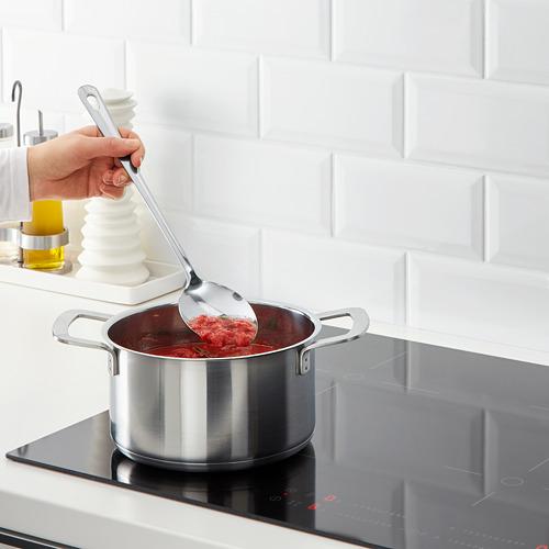 GRUNKA - 4-piece kitchen utensil set, stainless steel | IKEA Indonesia - PE610108_S4