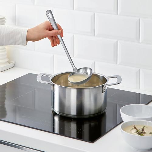 GRUNKA - 4-piece kitchen utensil set, stainless steel | IKEA Indonesia - PE610110_S4