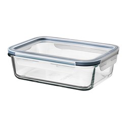 IKEA 365+ - IKEA 365+, food container with lid, rectangular glass/plastic, 1.0 l