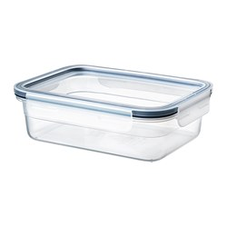 IKEA 365+ - Food container with lid, rectangular/plastic