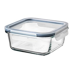 IKEA 365+ - Food container with lid, square glass/plastic