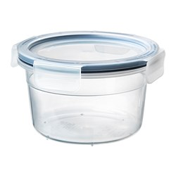 IKEA 365+ - Food container with lid, round/plastic