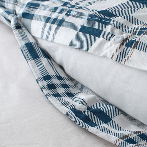SPIKVALLMO sarung quilt dan 2 sarung bantal