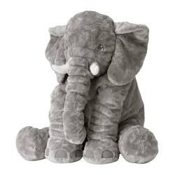 JÄTTESTOR - Boneka, gajah/abu-abu