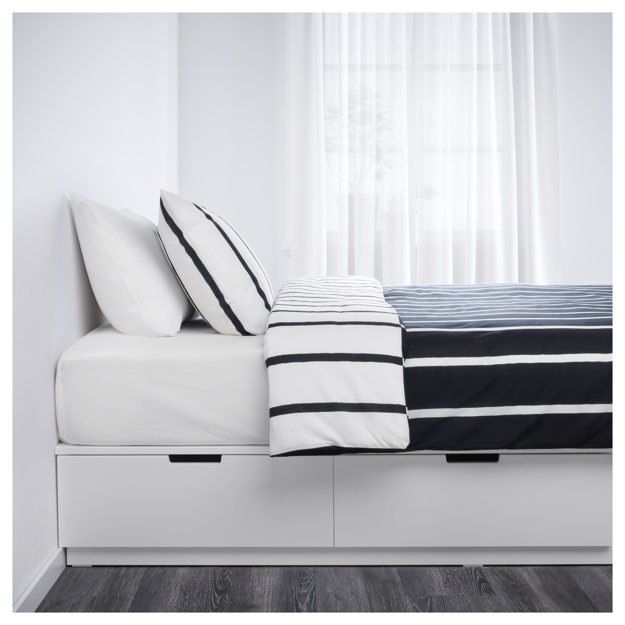 Nordli Bed Frame With Storage White Ikea Indonesia