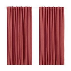 VILBORG - Tirai penggelap ruangan, 1 pasang, merah