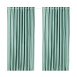 VILBORG - Room darkening curtains, 1 pair, green