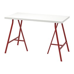 LERBERG/LINNMON - Meja, putih/merah