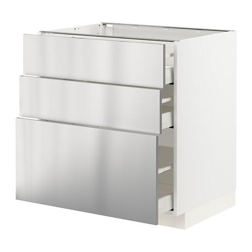 MAXIMERA/METOD kabinet dasar dgn 3 laci